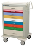 Aluminum 9-Drawer Pediatric Cart