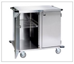 "Case Cart w/Solid Stainless Steel Shelf (20"" x 30"" x 30"") (2 Door and 1 Compartment)"