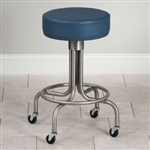 Clinton Stainless Steel Stool with Casters