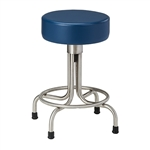 Stainless Steel Stool with Rubber Feet