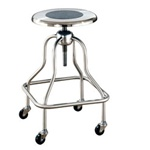UMF Stainless Steel Revolving Stool with Ring Footrest and No Back