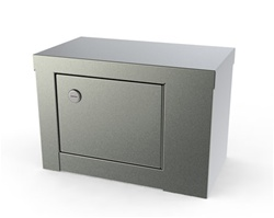 "UMF SS7784 Single Door, Single Lock Narcotic Cabinet, No shelf, 12""W x 7.75""H x 7""D"