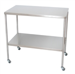 "UMF SS8010 Stainless Steel Instrument Tables, with Shelf, 20"" x 36"""