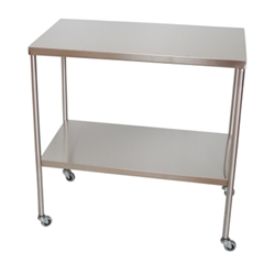 "UMF SS8014 Stainless Steel Instrument Tables with Shelf, 20"" x 48"""