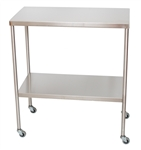 "UMF SS8016 Stainless Steel Instrument Tables with Shelf, 16"" x 30"""