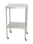 "UMF SS8018 Stainless Steel Instrument Tables with Shelf, 16"" x 20"""