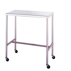"UMF SS8030 Stainless Steel Instrument Table with H-Brace, 24"" x 72"""