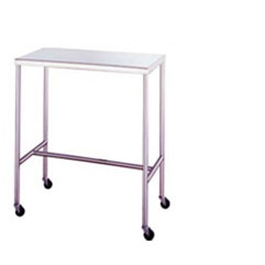"UMF SS8038 Stainless Steel Instrument Tables with H-Brace, 24"" x 48"""