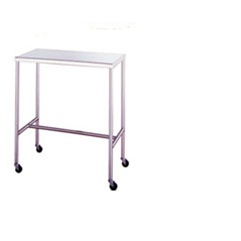 "UMF SS8042 Stainless Steel Instrument Tables with H-Brace, 20"" x 36"""