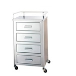 "UMF SS8150 Stainless Steel Utility Table, 4 Drawers, 20""W x 35.25""H x 16""D"
