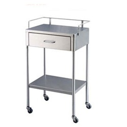 "UMF SS8153 Stainless Steel Utility Table, 1 Drawer, 1 Shelf, 20""W x 35.25""H x 16""D"