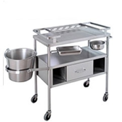 UMF SS8205 Stainless Steel Dressing Cart with Jars (bottles not included)