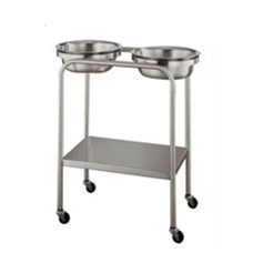 UMF SS8360 Stainless Steel Twin Basin Stand with Shelf