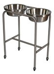 UMF SS8361 Stainless Steel Twin Basin Stand with H-brace