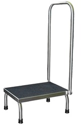 UMF 8378 Single Step Stainless Steel Foot Stool With Hand Rail
