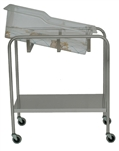 "SS8538 UMF Stainless Steel Bassinet - 1 Shelf, 32""W x 35.25""H x 17""D"