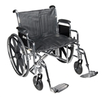 "Sentra EC Heavy Duty Extra Wide Wheelchair - Detachable (24"")"
