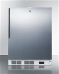 Built-in frost-free stainless steel freezer for scientific applications