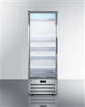 Glass door pharmacy refrigerator, left hand door swing, not field reversible Auto Defrost