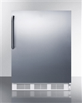 AccuCold AL650BISSTB Undercounter Built-In Refrigerator/Freezer (w/ Stainless Steel Door, Towel Bar Handle)