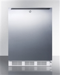 AccuCold AL650LSSHH Compact Refrigerator/Freezer (w/ Stainless Steel Door, Lock and Horizontal Handle)