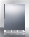 Compact Refrigerator/Freezer (w/ Stainless Steel Door, Lock and Horizontal Handle)