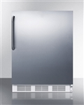 ADA Compact Refrigerator/Freezer Stainless Steel Door