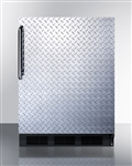 AccuCold ADA Undercounter Refrigerator/Freezer - Diamond Plate door