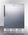 5.5 Cubic Foot ADA Undercounter Stainless Steel Refrigerator with Lock
