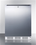 5.5 Cubic Foot ADA Freestanding Refrigerator with Lock and Stainless Steel Door