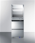 Fully assembled warming cabinet and  frost-free freezer stacked combination (Medical Grade)
