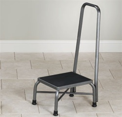 Clinton Economy Finish Bariatric Step Stool with Handrail