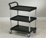 Clinton Value Black Plastic Utility Cart