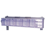 Harloff Tilt Bin, 4 Compartments with Rail Clips
