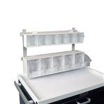 Harloff  Tilt Bin, 6 Compartments with Rail Clips