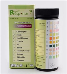 Rapid Response 10 Para (10SG) Urinalysis Reagent Test Strips