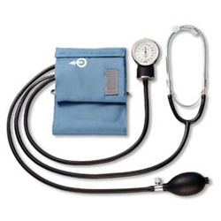 AnD LifeSource Aneroid Blood Pressure Monitors, Aneroid Home BP Kit/Attached Stethoscope