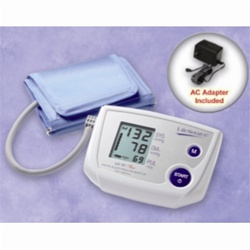 AnD LifeSource Digital Blood Pressure Monitors with LARGE Cuff, One Step Plus Memory w/AC Adapter