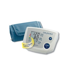 AnD LifeSource Digital Blood Pressure Monitors with MEDIUM Cuff, One Step Plus Memory