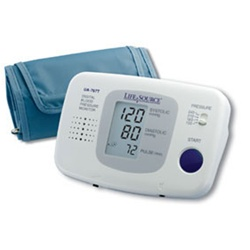AnD LifeSource Digital Blood Pressure Monitors with MEDIUM Cuff, Talking Auto-Inflation