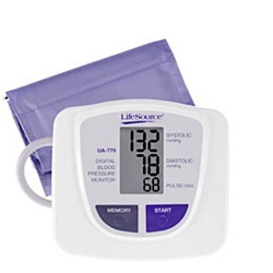 AnD LifeSource Digital Blood Pressure Monitors with MEDIUM Cuff, Advanced Inflation Sensor