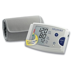 AnD LifeSource Digital Blood Pressure Monitors with MEDIUM Cuff, Quick Response with EasyCuff™ Feature