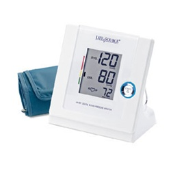 AnD LifeSource Digital Blood Pressure Monitors with LARGE Cuff, Multi-Function Automatic