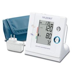 AnD LifeSource Digital Blood Pressure Monitors with MEDIUM Cuff, Premium Automatic with AM/PM TimeWise™ Tracking Technology