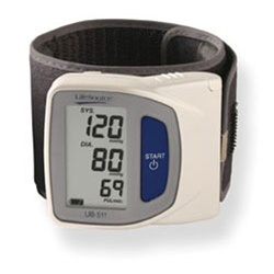 "AnD LifeSource Digital Wrist Monitors. Travel Size Wrist Monitor: cuff size 5.3"" - 8.5"" (13.5 - 21.6 cm)"