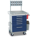 Detecto Loaded Whisper Cart - Blue (6-Drawers)