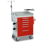 Detecto Loaded Whisper Cart - Red (6-Drawers)