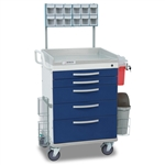 Detecto Loaded Whisper Cart - Blue (5-Drawers)