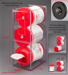 Poltex Visual Management Wipe Tub Dispenser (Magnets 4)