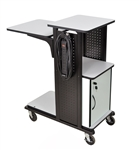 "41"" Mobile Presentation Station - Cabinet with Electric"